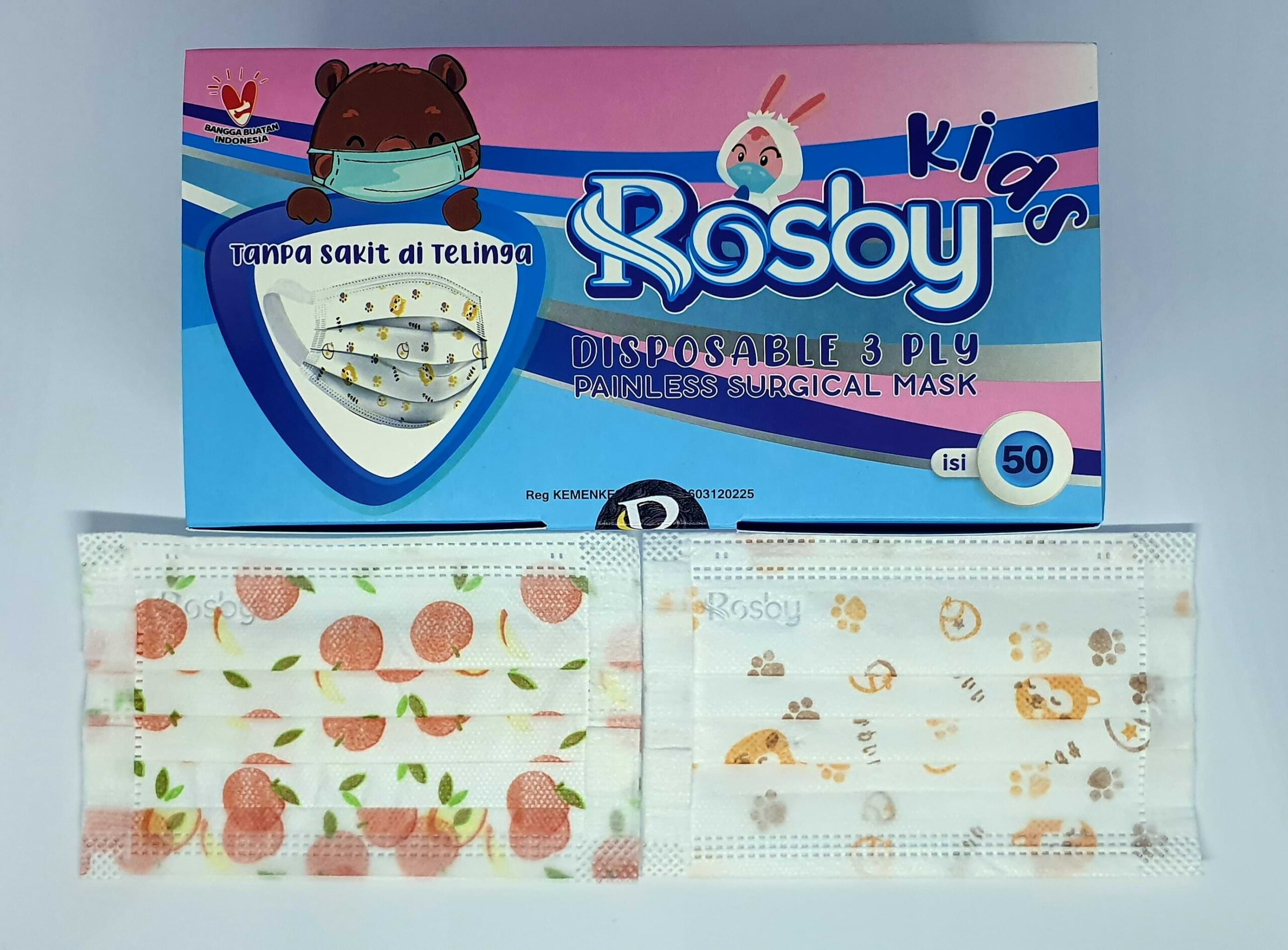 Masker 3 Ply Rosby